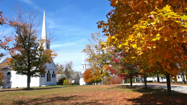 autumn in new england - salem massachusetts stock videos & royalty-free footage