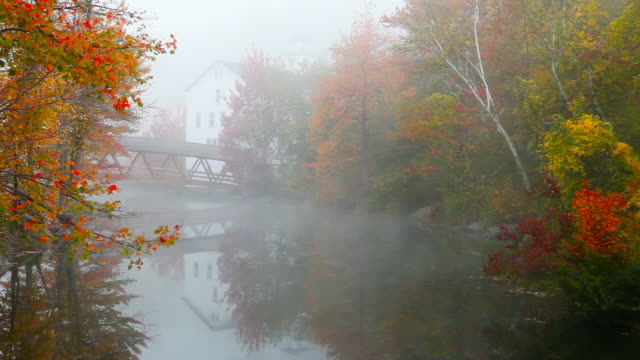 autumn in new hampshire - village stock videos & royalty-free footage