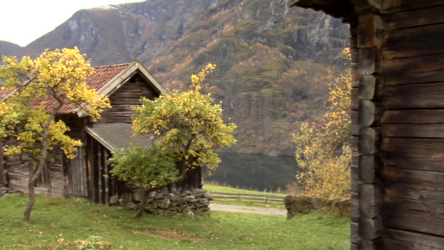 autumn in otternes farm village - hut stock videos & royalty-free footage