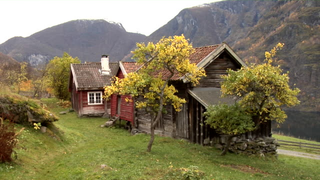 autumn in otternes farm village - tradition stock videos & royalty-free footage