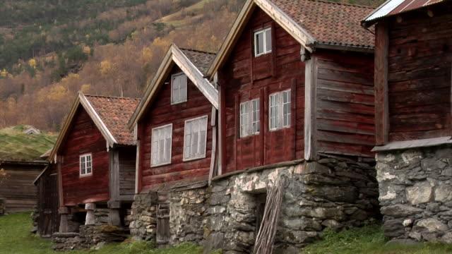 autumn in otternes farm village - farmhouse stock videos & royalty-free footage