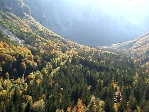 vídeos de stock e filmes b-roll de outono na eslovénia de ar - forma de água