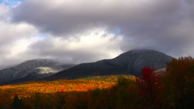 herbst in der white mountains - new hampshire stock-videos und b-roll-filmmaterial