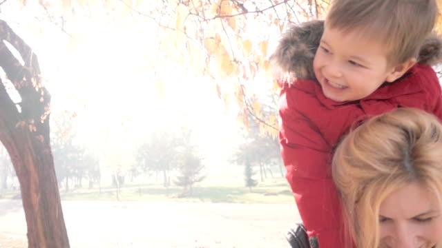 Autumn joy in the park