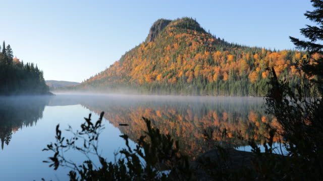 Autumn Lake in Forest Nature, Quebec, Canada