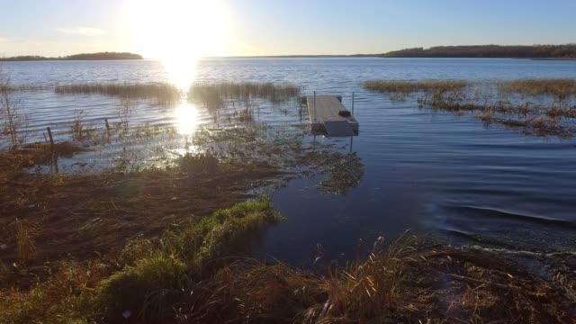 autumn lakeshore - lakeshore stock videos & royalty-free footage