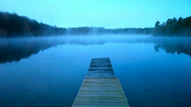 autumn mist - jetty stock videos & royalty-free footage