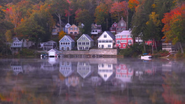 autumn on lake winnipesaukee in new hampshire - new hampshire stock videos & royalty-free footage