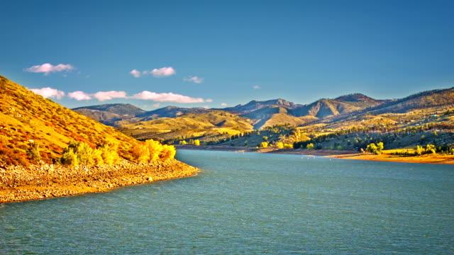 stockvideo's en b-roll-footage met autumn river away - mount moran