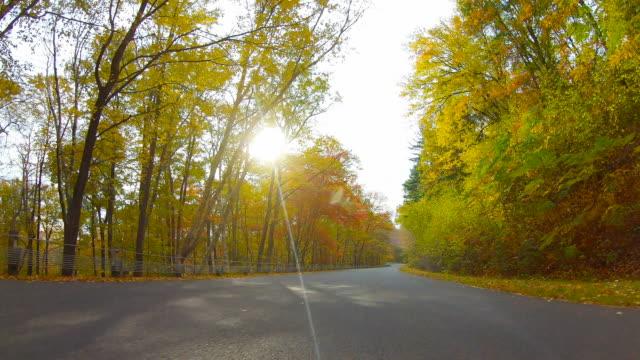 Autumn road in the Quabbin Region of Massachusetts