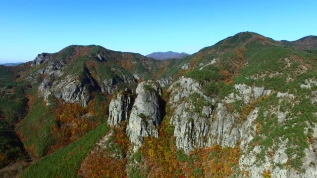 autumn scene of juwangsan national park in cheongsong - north gyeongsang province stock videos and b-roll footage