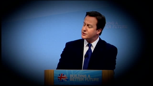 / r25101009 sequence david cameron mp speech to 2010 cbi conference sot in five years' time we will have balanced the books wales cardiff david... - 2012 stock videos and b-roll footage