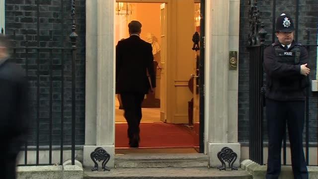 Cabinet arrivals ENGLAND London Downing Street EXT Cabinet Ministers arriving at Number 10 including Justine Greening MP Karen Bradley MP Michael...