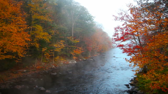 Autumn steam from the Millers River