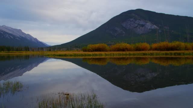 Autumn view mountain lake in Fall Banff Canada