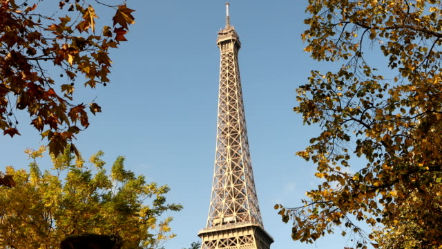 Herbst-Blick auf Eiffelturm