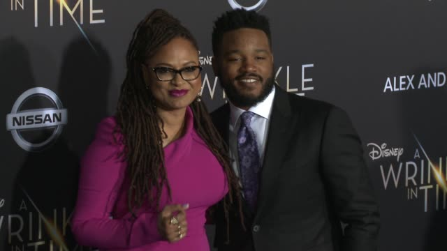 ava duvernay and ryan coogler at the a wrinkle in time world premiere at the el capitan theatre on february 26 2018 in hollywood california - ryan coogler stock videos and b-roll footage