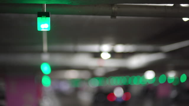 available parking lot,  green light sign - parking stock videos & royalty-free footage