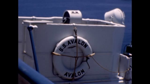 1947 ss avalon cruise ship voyage to santa catalina island - cruise collection stock videos & royalty-free footage