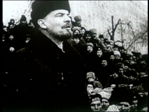 avant garde film depicting vladimir lenin's life and death and the different people of russia - ehemalige sowjetunion stock-videos und b-roll-filmmaterial