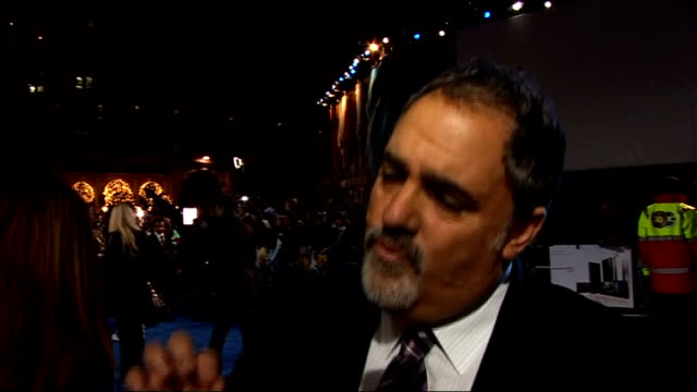 'avatar' film premiere in london's leicester square: interviews on the 'blue carpet'; jon landau interview sot - on whether he felt the pressure... - epic film stock videos & royalty-free footage
