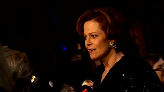'Avatar' film premiere in London's Leicester Square interviews on the 'blue carpet' General views Sigourney Weaver red carpet interview Sigourney...