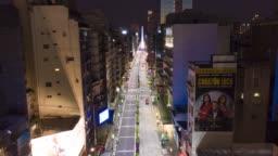 Avenida Corrientes in Quarantine