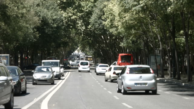 avenida da liberdade in lisbon - avenida stock videos & royalty-free footage