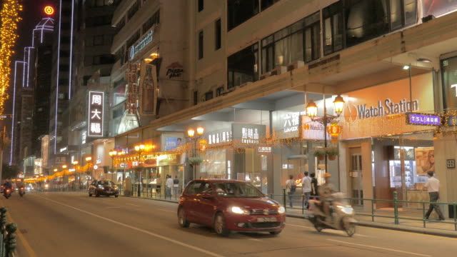 avenida infante dom henrique, macau, china - avenida stock videos & royalty-free footage