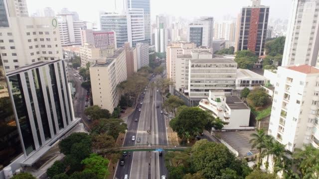 avenida nove de julho in sao paulo city, brazil - são paulo stock videos and b-roll footage