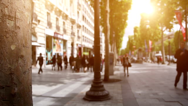 avenue des champs elysees - france stock videos & royalty-free footage