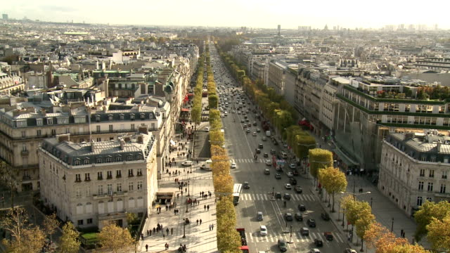 avenue des champs élysées, paris - avenue des champs elysees stock videos & royalty-free footage