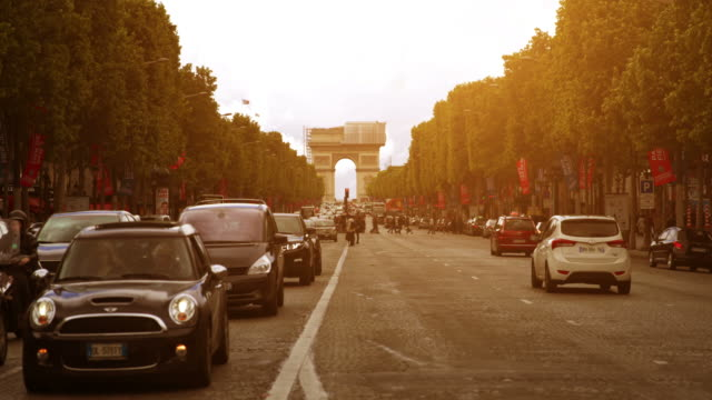 avenue des champs-elysees in paris - french culture stock videos & royalty-free footage