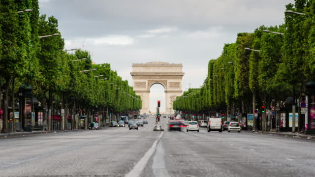 Avenue des Champs-Elysees time lapse