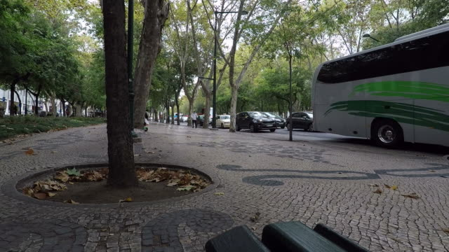 avenue in lisbon - liberdade stock videos & royalty-free footage