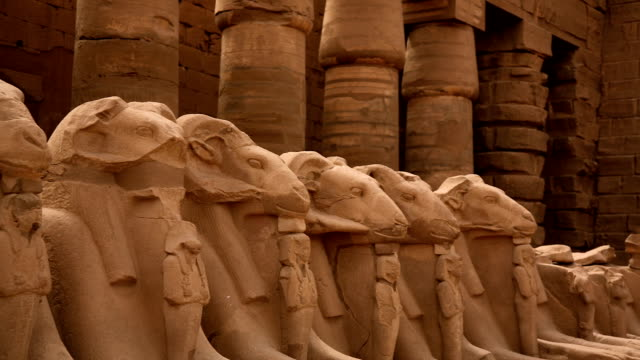 Avenue of Ram Headed Sphinxes from Karnak Temple, Luxor Egypt