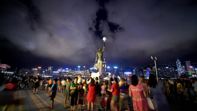 avenue of stars hong kong - tsim sha tsui stock videos & royalty-free footage