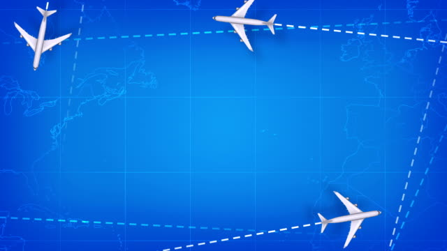 avia background. blue version. loop - map icon stock videos and b-roll footage