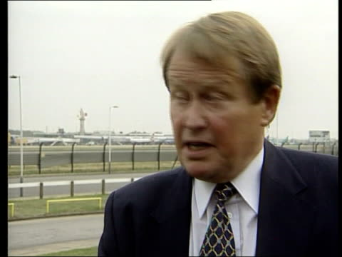 air france concorde crash itn england london heathrow airport captain john hutchinson interview sot very sad day - crash stock videos & royalty-free footage