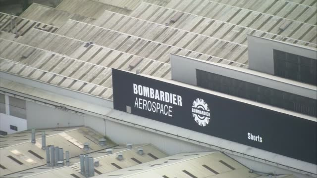 Bombardier wins in dispute with Boeing R171017006 IRELAND Belfast EXT AIR VIEW / AERIAL Bombardier Aerospace factory