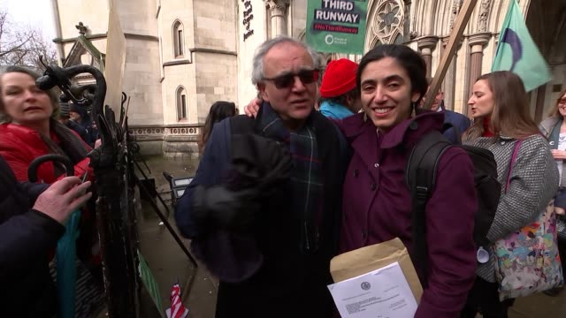 high court ruling on heathrow third runway reaction outside high court england london royal courts of justice various of environmentalists and... - environmentalist stock videos & royalty-free footage
