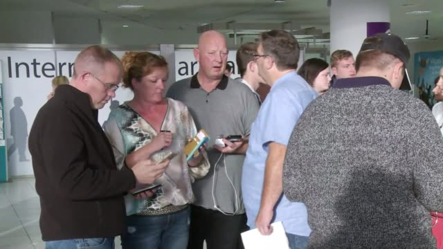 Monarch Airlines folds overnight leaving thousands stranded West Sussex Gatwick Airport Alan Jee interview SOT CUTAWAY people stranded in airport
