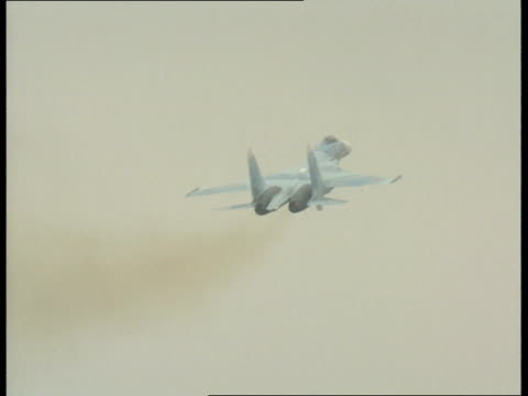 Paris Air Show Further shots of Sukhoi SU25 air display Harrier jump jet 2 air display