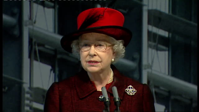 queen opens heathrow airport terminal 5; queen elizabeth ii speech sot - my warmest congratulations go to everyone who has worked on this highly... - world war ii stock-videos und b-roll-filmmaterial