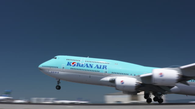 aviation - boeing 747 stock videos and b-roll footage