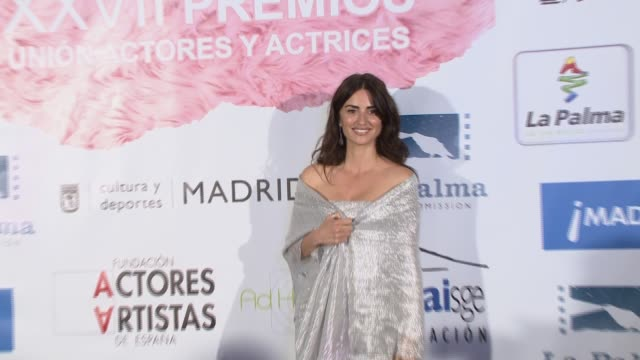 avier Bardem and Penelope Cruz attend the 'Union de Actores' awards gala at Circo Price theater