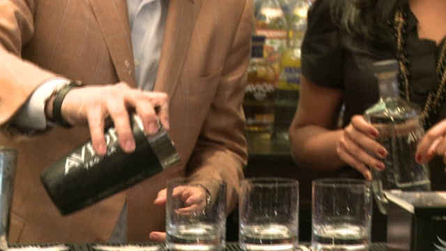 avion tequila founder ken austin mixing avion tequila drinks - avion stock videos & royalty-free footage