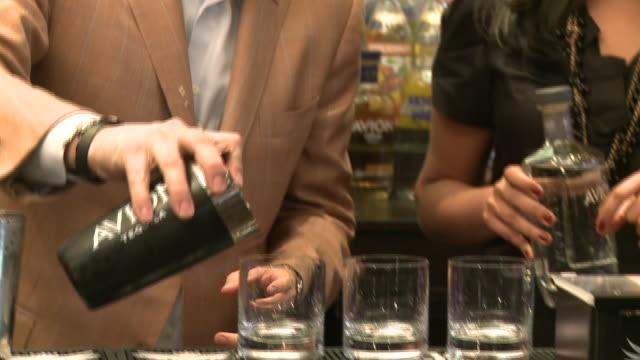 avion tequila founder ken austin mixing avion tequila drinks - avion stock-videos und b-roll-filmmaterial