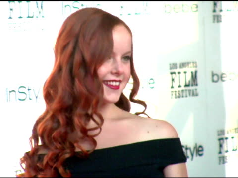 aviva at the 'down in the valley' los angeles premiere at the cinerama dome at arclight cinemas in hollywood california on june 16 2005 - arclight cinemas hollywood stock videos and b-roll footage