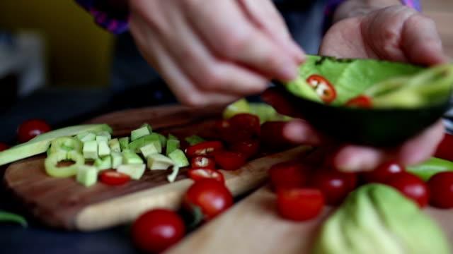 avocado salad - avocado salad stock videos & royalty-free footage